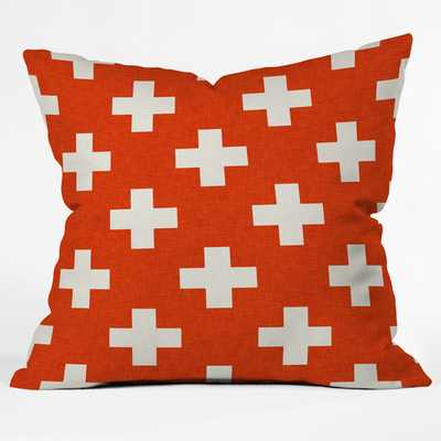 "Holli Zollinger Vermillion Plus Throw Pillow - 18"" Square - Down/Feather Fill - AllModern"
