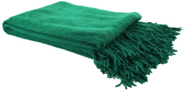 "Emerald ""Not Your Mother's Throw"" Blanket - Lamps Plus"