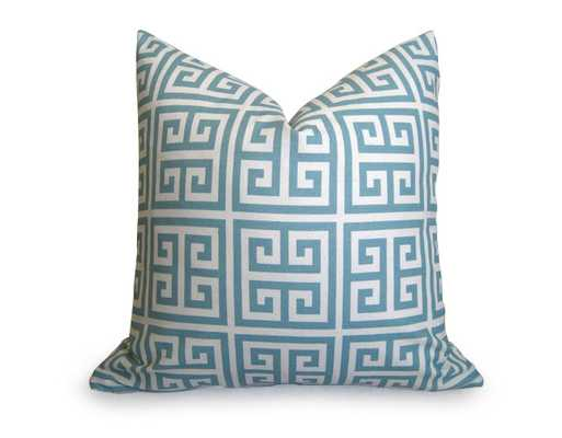 Greek Key Pillow Cover - 18X18 - with insert - Willa Skye