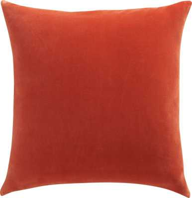 "Leisure burnt orange 23"" pillow-Feather insert - CB2"