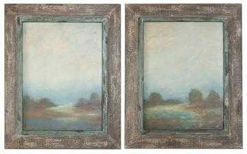 Morning Vistas Wall Art - Set of 2 - 31.25x25 - Framed - Home Decorators
