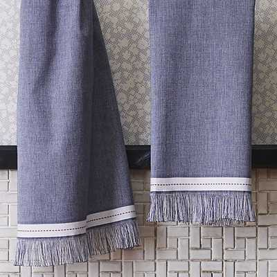 The Hill-Side selvedge navy hand towel - CB2