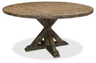 "Alice 48"" Round Dining Table, Gray - One Kings Lane"