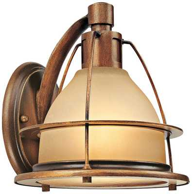 "Bristol Bay 8 1/4"" High Sunset Bronze Wall Sconce - Lamps Plus"