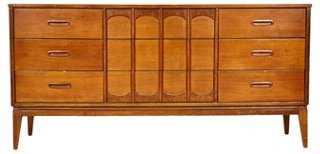 1960s Walnut Low Arch-Style Dresser - One Kings Lane