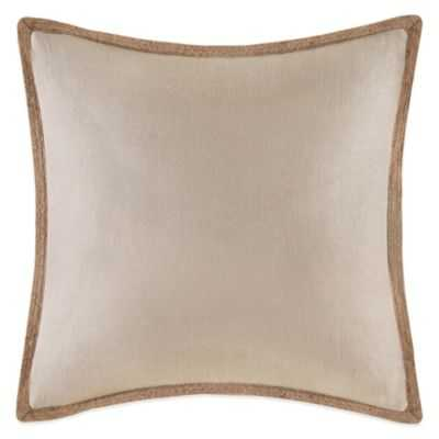 Linen Square Throw Pillow in Linen - Bed Bath & Beyond