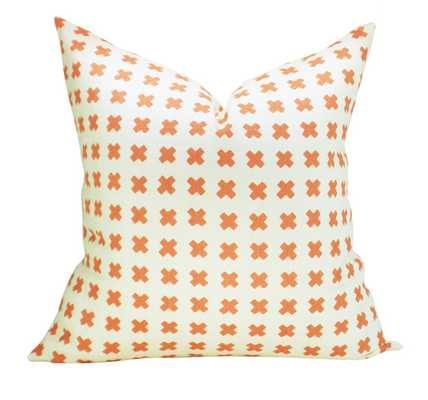 China Seas Cross Check pillow cover in New Shrimp on Tint - Etsy