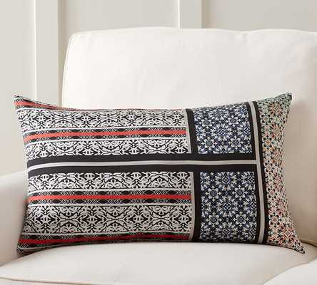 """THEODORA SCARF PRINT LUMBAR PILLOW COVER- 16"""" wide x 26"""" long- Insert sold separately. - Pottery Barn"""