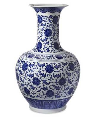 Blue & White Ginger Jar Gourd Vase - Williams Sonoma