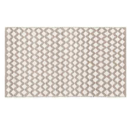 DIAMOND WOOL RUG - IVORY - 9 X 12' - Pottery Barn