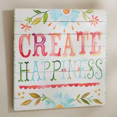 "Katie Daisy ""Create Happiness"" Watercolor Art - Pottery Barn Teen"