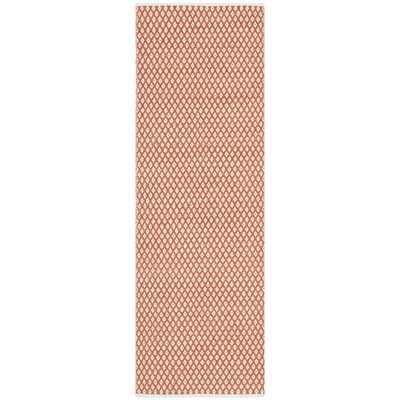 Safavieh Hand-loomed Moroccan Orange Cotton Rug - Overstock