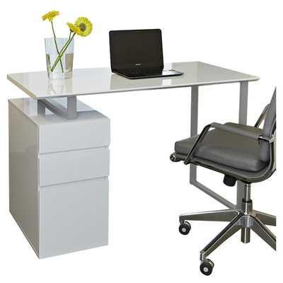 Tribeca 220 Study Writing Desk with Drawers - Wayfair