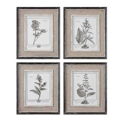 "Casual Grey Study by Grace Feyock 4 Piece Painting Print Set- 18"" H x 15"" W x 1"" D-  Framed - Wayfair"