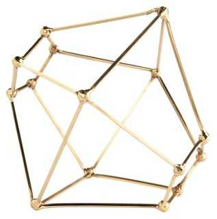"9"" Polyhedron Sculpture, Brass - One Kings Lane"