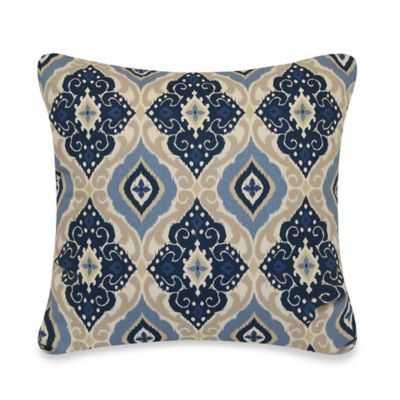 "Jabari Throw Pillow In Blue- 20"" W x 20"" L- Polyester fill insert - Bed Bath & Beyond"