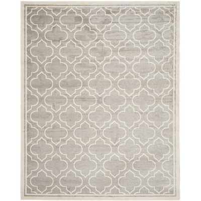 Amherst Light Grey/Ivory Outdoor Area Rug - Wayfair