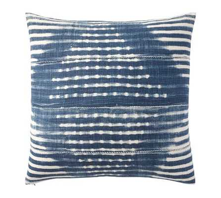 "Diamond Shibori Print Pillow Cover- 24"" sq- INDIGO- Insert sold separately. - Pottery Barn"