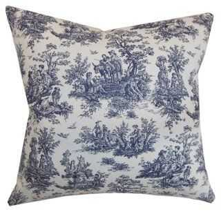Lalibella Toile Cotton Pillow - One Kings Lane