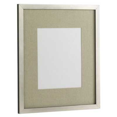 "Gallery 14"" x 17"" Frame - Antique Silver - West Elm"