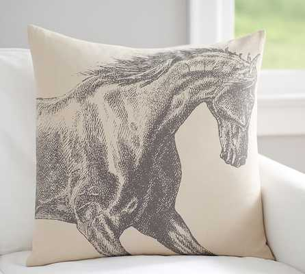 Etched Horse Print Pillow Cover - Pottery Barn