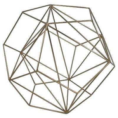 Metal Wire Decorative Figurine Extra Large Brass - Target