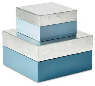 Asst. of Nested Boxes, Blue - One Kings Lane