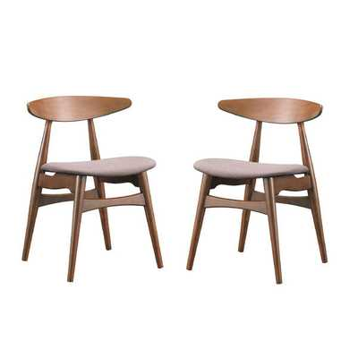 Set of 2 Flamingo Mid-Century Solid Wood Dining Chairs - Overstock