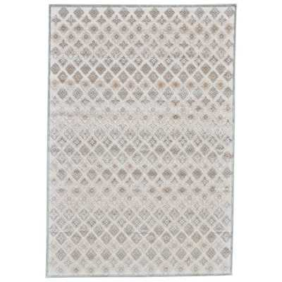 Cream and Silver Area Rug - Wayfair