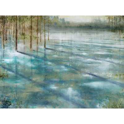 """""""Water Trees"""" Painting Print on Wrapped Canvas- 30"""" H x 40"""" W x 1.5"""" D-Unframed - Wayfair"""