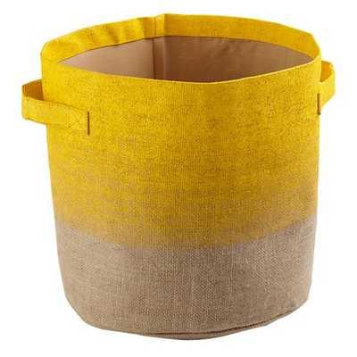 Yellow Dip Top Bin - Land of Nod