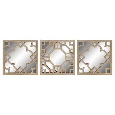 Mirror Set - Light Brown - Wayfair