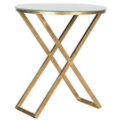 Safavieh Riona End Table-Gold / White - Wayfair