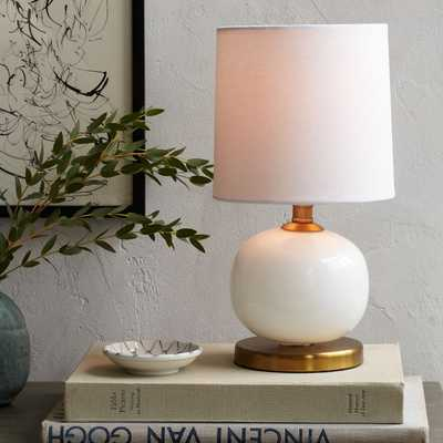Mini Abacus Table Lamp - Milk Finish - West Elm