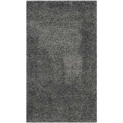 """Shag Dark Grey Area Rug -6'7""""X9'6"""" - AllModern"""