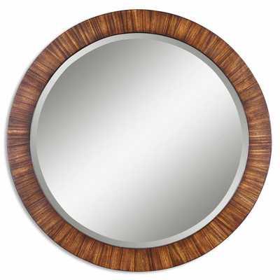 Uttermost Jules Zebrano Veneer Framed Beveled Mirror - Overstock