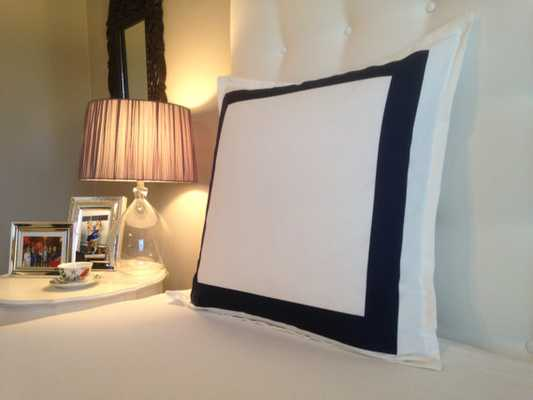"Navy Bedroom Pillow - 26"" x 26"" - Insert Sold Separately - Etsy"