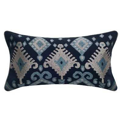Rizzy Home Indoor/Outdoor Embroidery Detailing Pillow - Tribal Design - Target