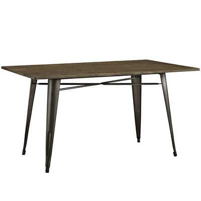 """ALACRITY 59"""" RECTANGLE WOOD DINING TABLE IN BROWN - Modway Furniture"""
