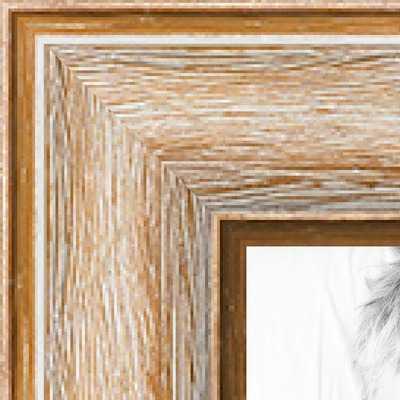 46x33 Pecan Barnwood picture frame with Regular Plexi Glass - arttoframe.com