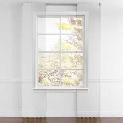 "Modern yellow trellis back tab curtain - 84"" x 50"" - alternate - Loom Decor"