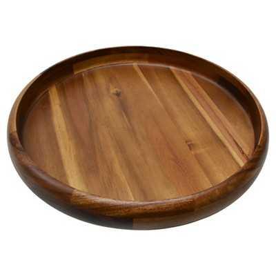 Large Round Natural Wood Platter - Target