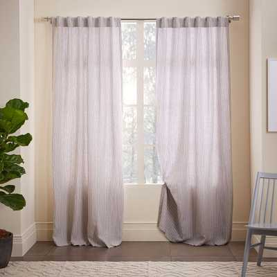 Striped Belgian Linen Curtain - West Elm