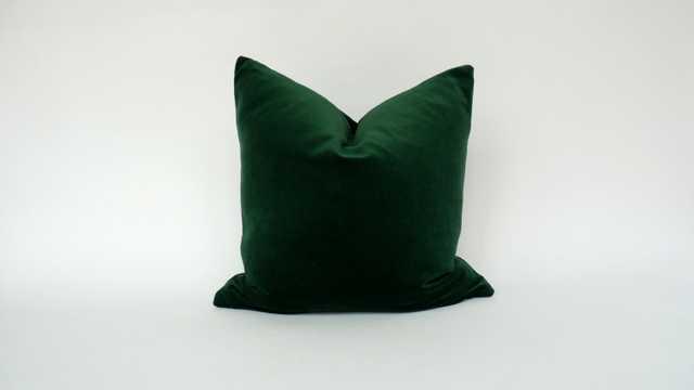 """Dark Green 22"""" X 22"""" Velvet Pillow Case without insert - Etsy"""