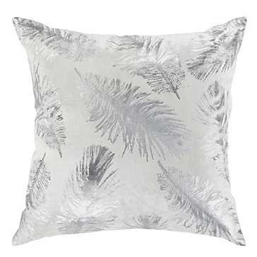 "Pluma Pillow 22""-Ivory/Silver- Insert included - Z Gallerie"