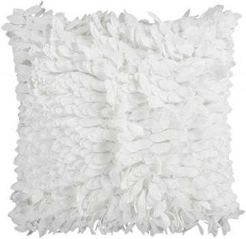 Devin Decorative Pillow - 18 Sq.- White- Without insert - Home Decorators
