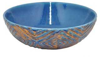 """12"""" Etched Ceramic Bowl - One Kings Lane"""