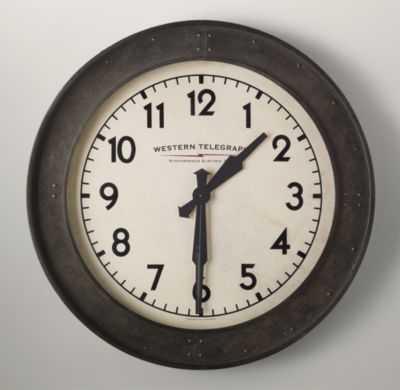 VINTAGE WAREHOUSE CLOCK - RH