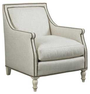Deans Lounge Chair, Beige-Ivory - One Kings Lane