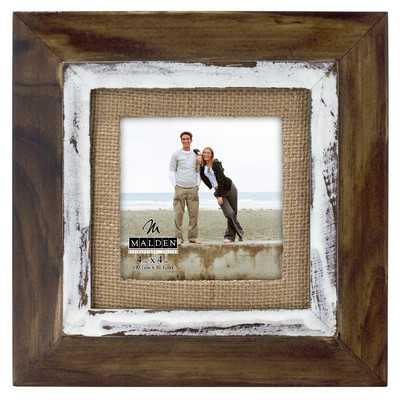 Cedar Burlap Mat Picture Frame - Wayfair